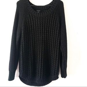 Calvin Klein black cable knit sweater size XL
